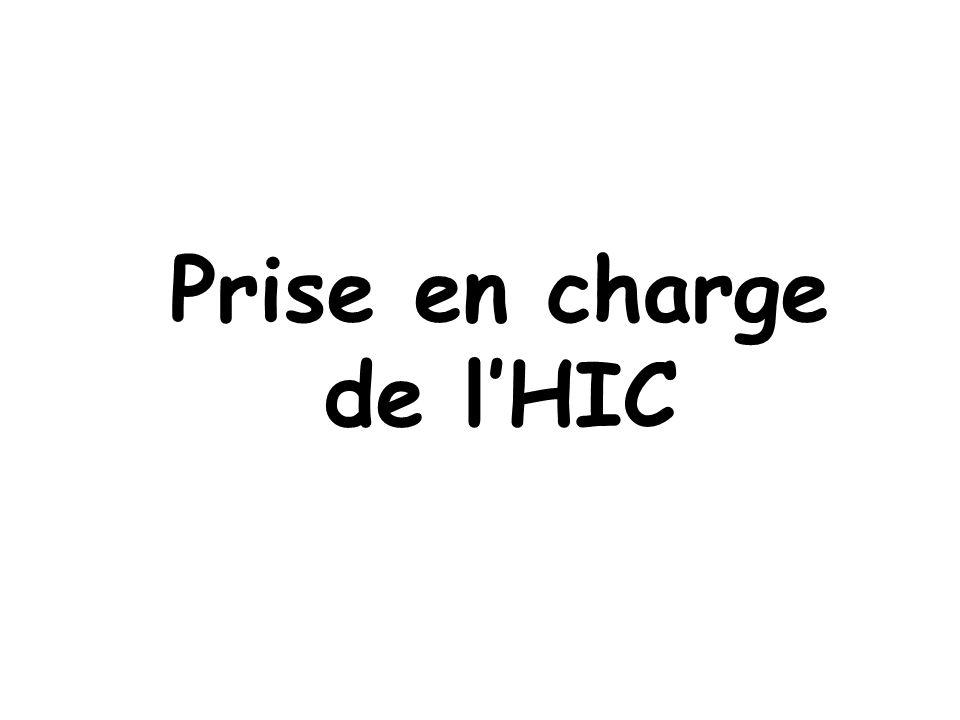 Prise en charge de l'HIC
