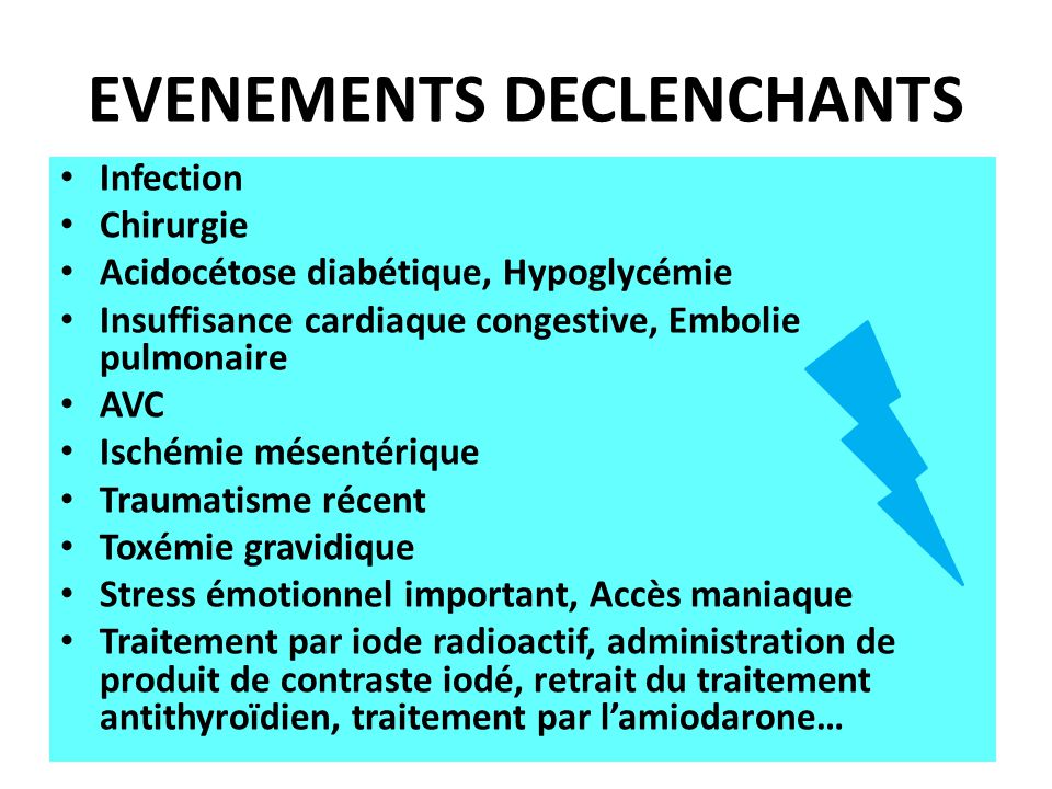 EVENEMENTS DECLENCHANTS