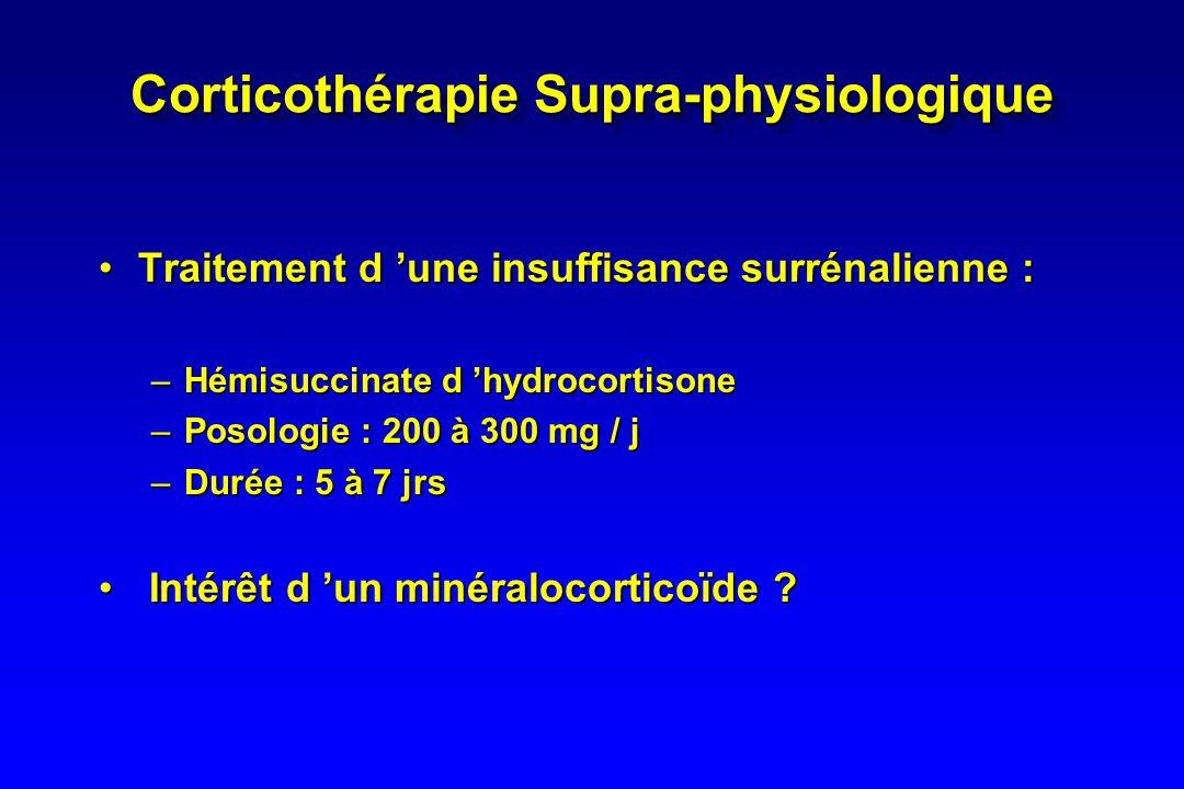 Corticothérapie Supra-physiologique