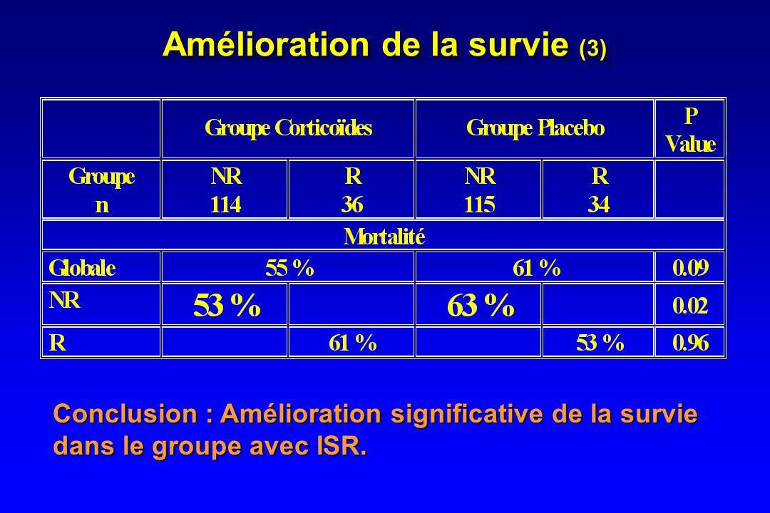 Amélioration de la survie (3)