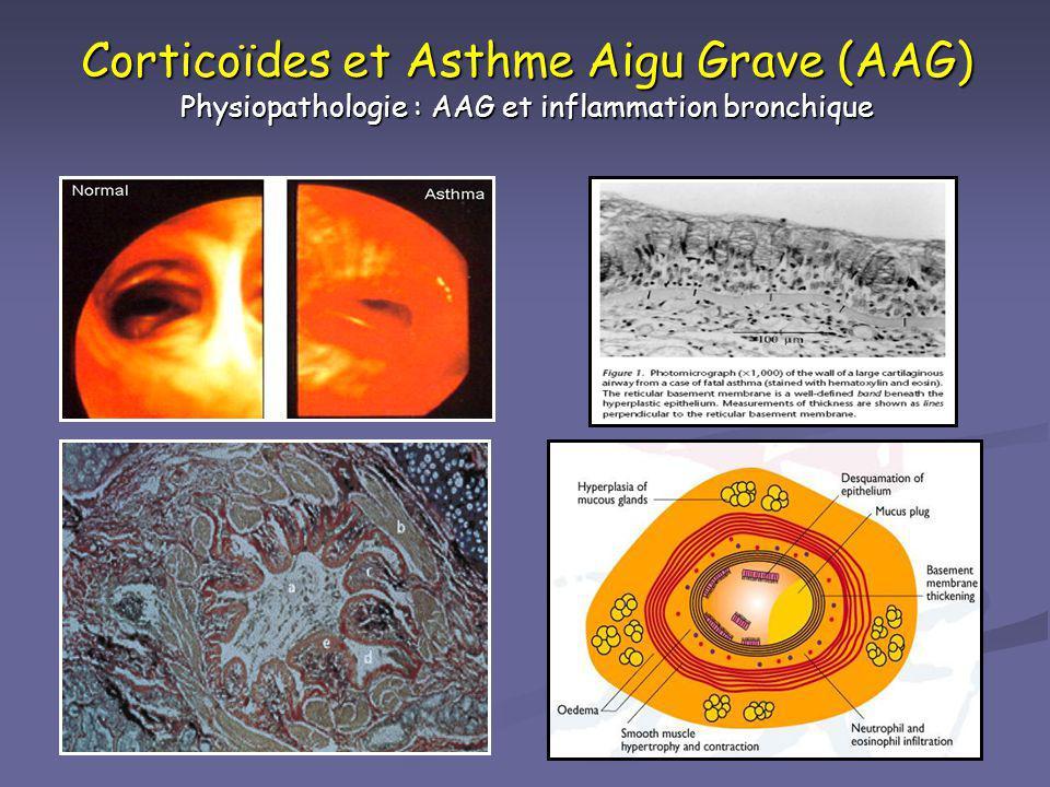 Corticoïdes et Asthme Aigu Grave (AAG) Physiopathologie : AAG et inflammation bronchique