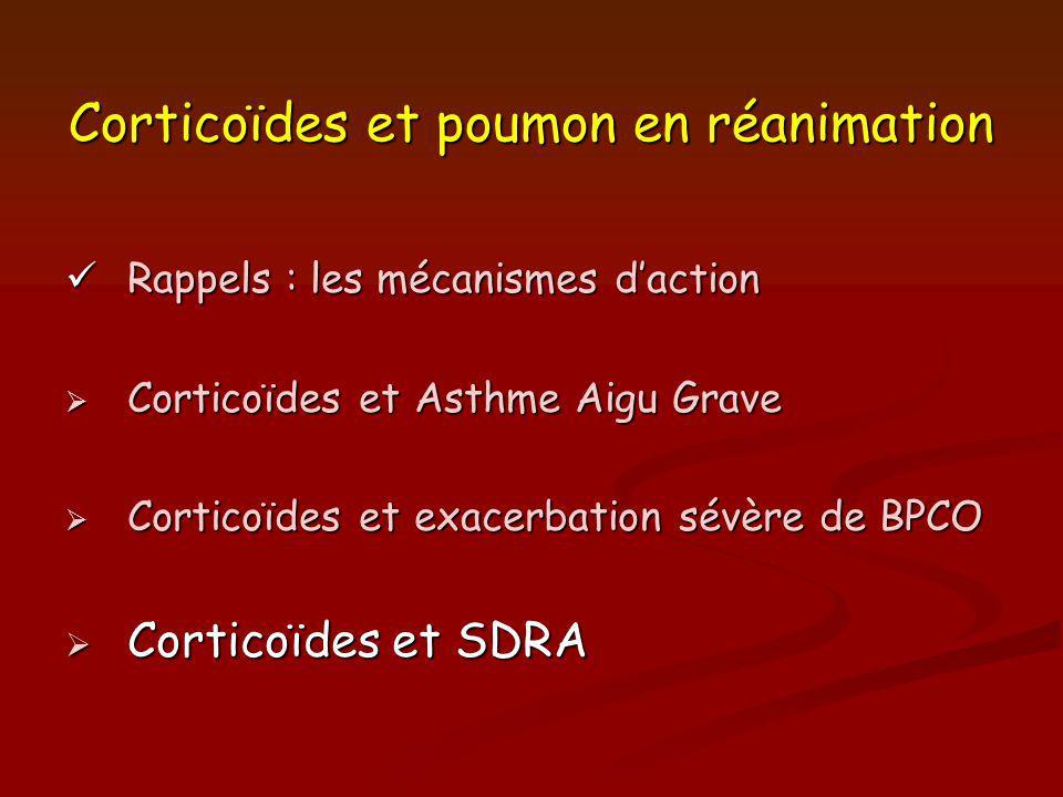 Corticoïdes et poumon en réanimation