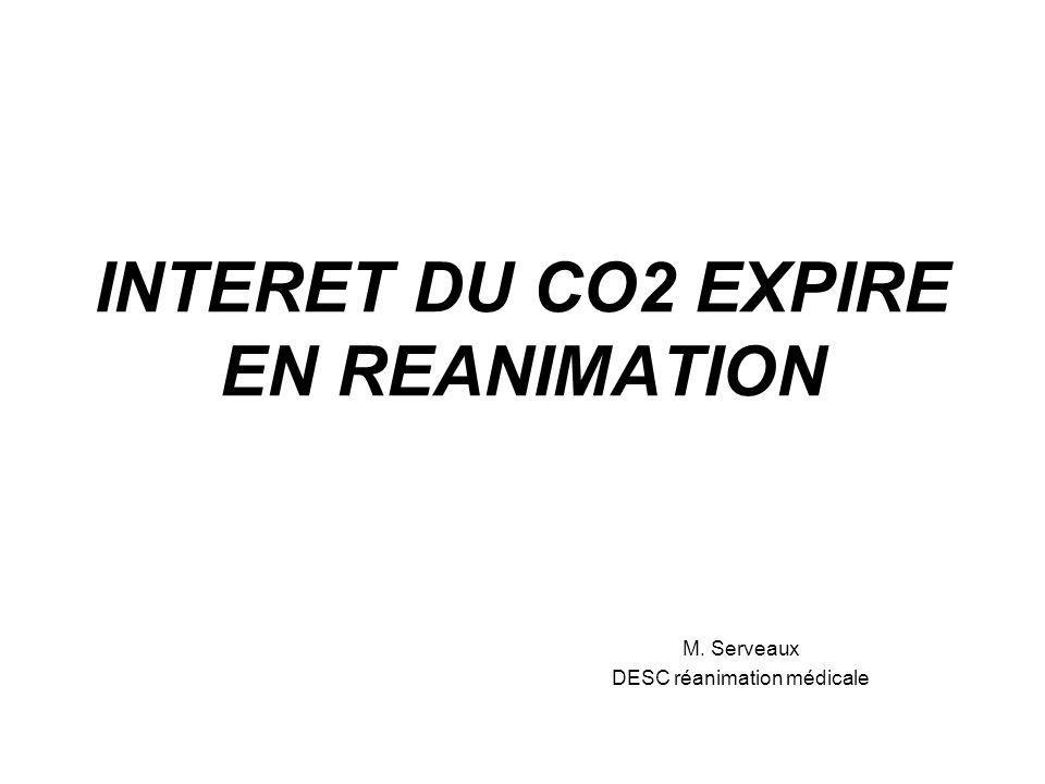 INTERET DU CO2 EXPIRE EN REANIMATION