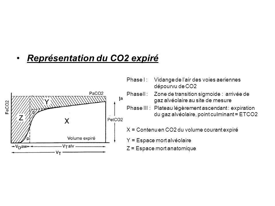 Représentation du CO2 expiré