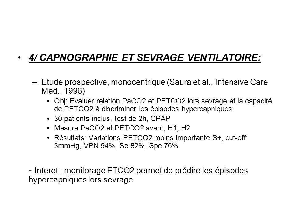 4/ CAPNOGRAPHIE ET SEVRAGE VENTILATOIRE: