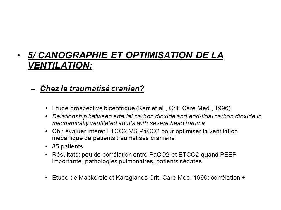 5/ CANOGRAPHIE ET OPTIMISATION DE LA VENTILATION: