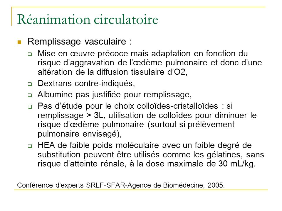 Réanimation circulatoire