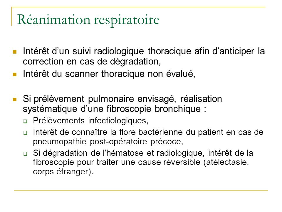 Réanimation respiratoire