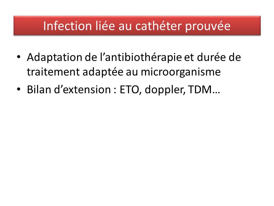 Infection liée au cathéter prouvée