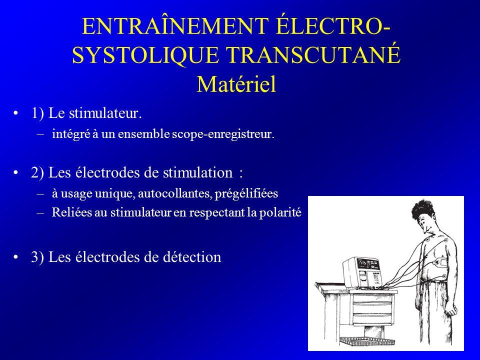 ENTRAÎNEMENT ÉLECTRO-SYSTOLIQUE TRANSCUTANÉ Matériel