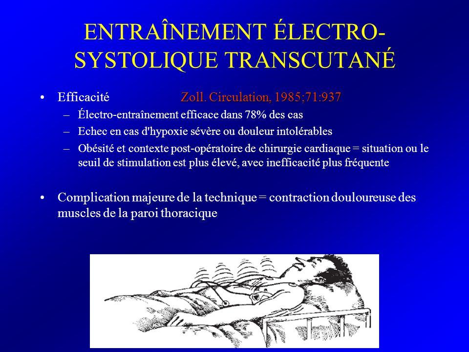 ENTRAÎNEMENT ÉLECTRO-SYSTOLIQUE TRANSCUTANÉ