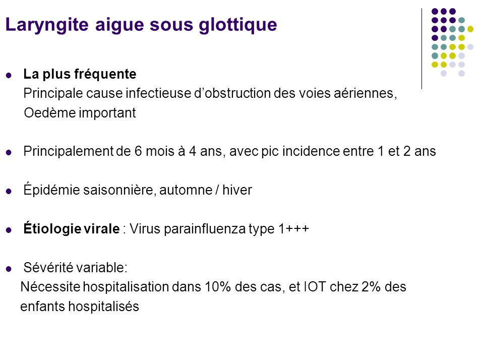 Laryngite aigue sous glottique