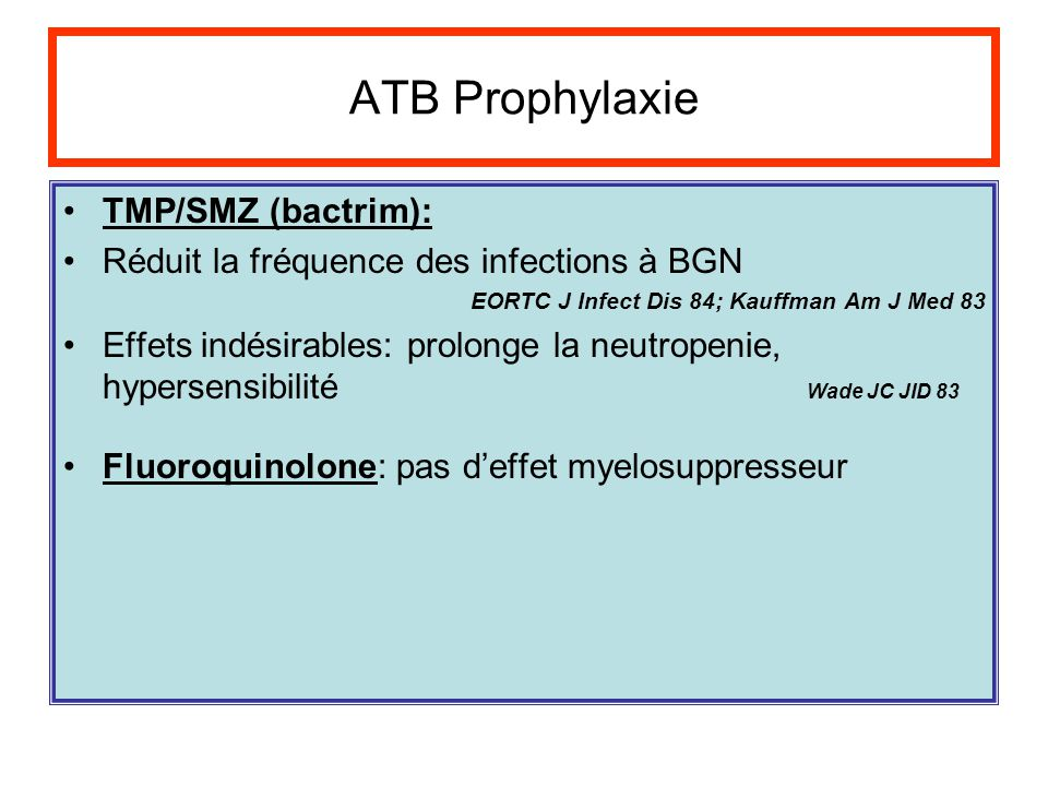 ATB Prophylaxie TMP/SMZ (bactrim):