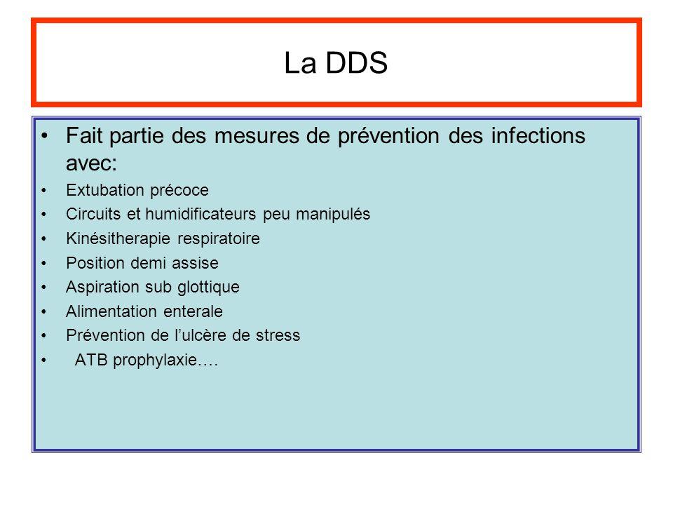 La DDS Fait partie des mesures de prévention des infections avec: