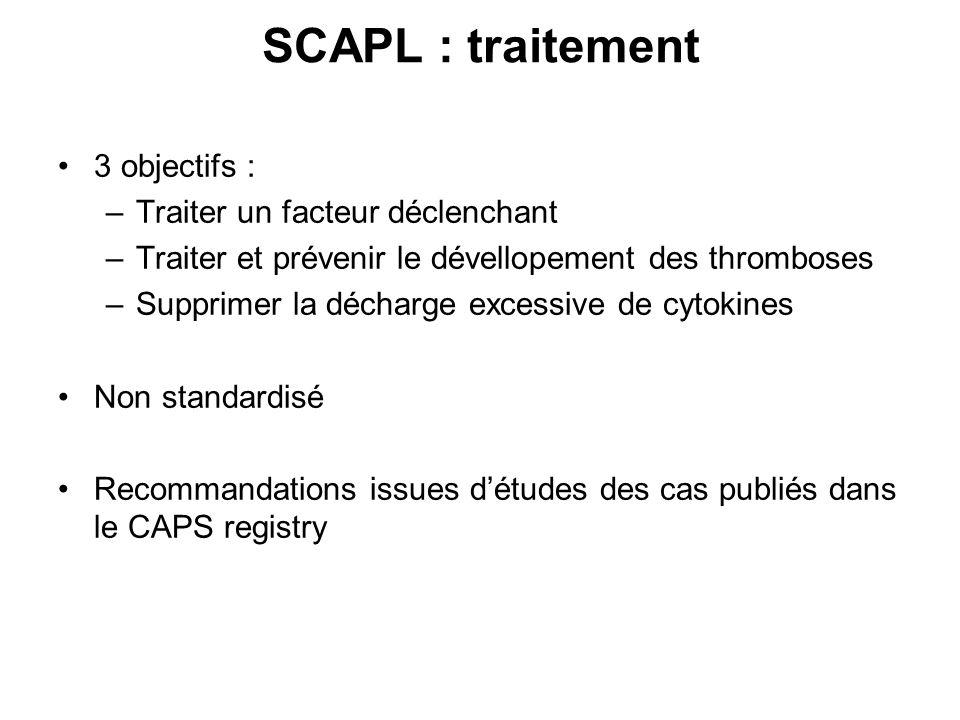 SCAPL : traitement 3 objectifs : Traiter un facteur déclenchant