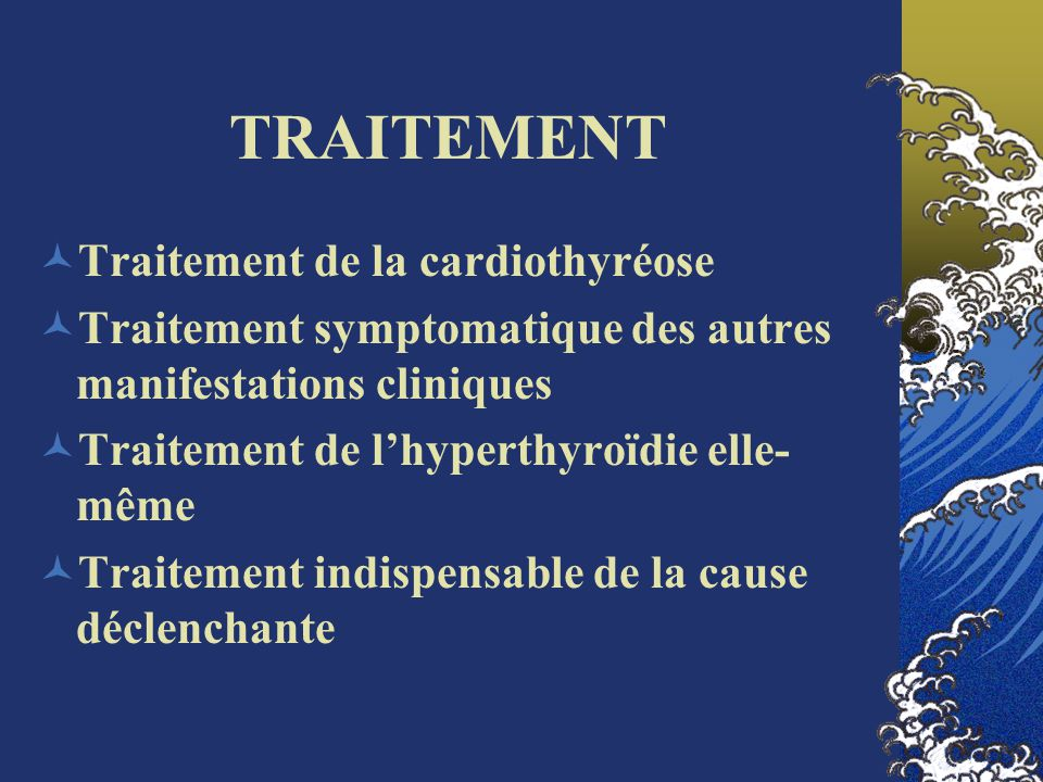 TRAITEMENT Traitement de la cardiothyréose