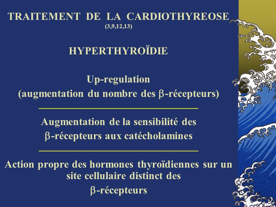 TRAITEMENT DE LA CARDIOTHYREOSE (3,9,12,13)