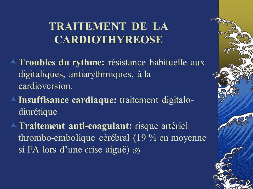 TRAITEMENT DE LA CARDIOTHYREOSE