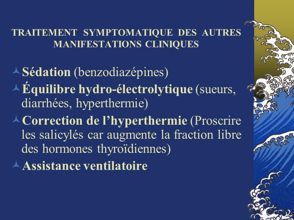 TRAITEMENT SYMPTOMATIQUE DES AUTRES MANIFESTATIONS CLINIQUES