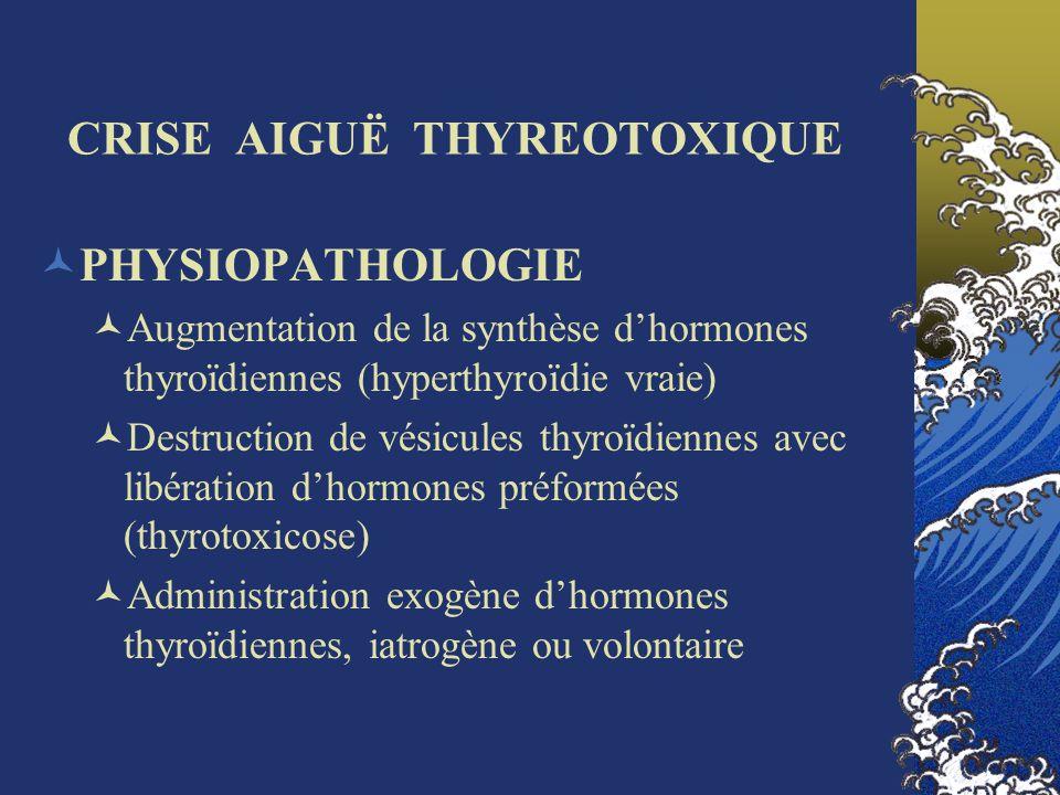CRISE AIGUË THYREOTOXIQUE