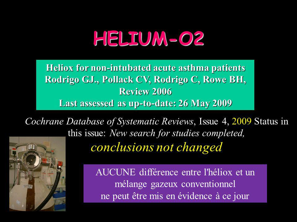 HELIUM-O2 conclusions not changed