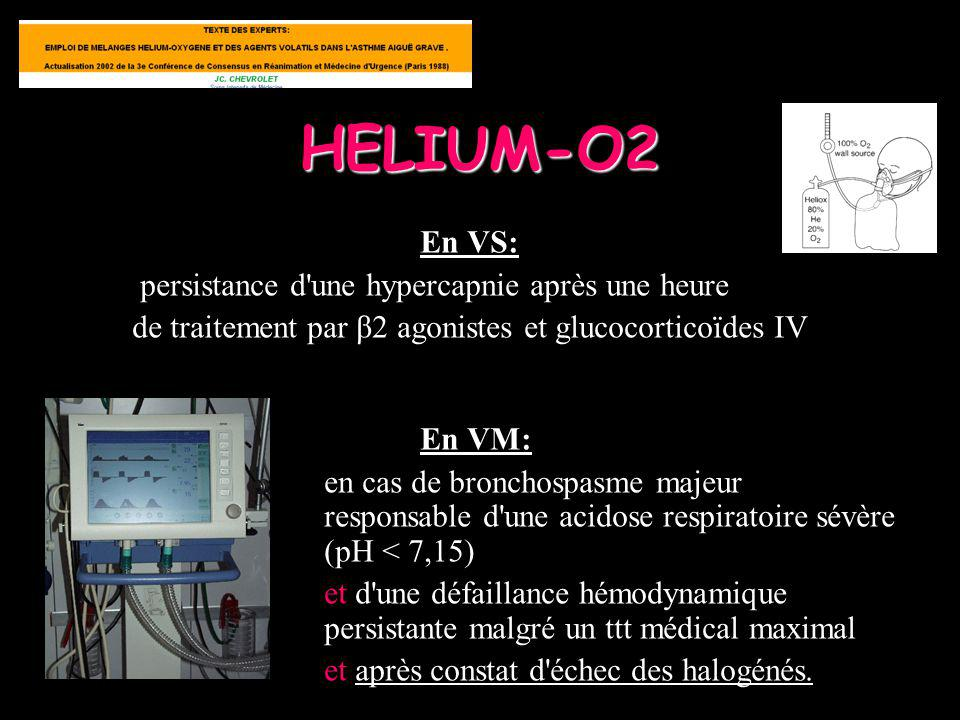 HELIUM-O2 En VS: persistance d une hypercapnie après une heure