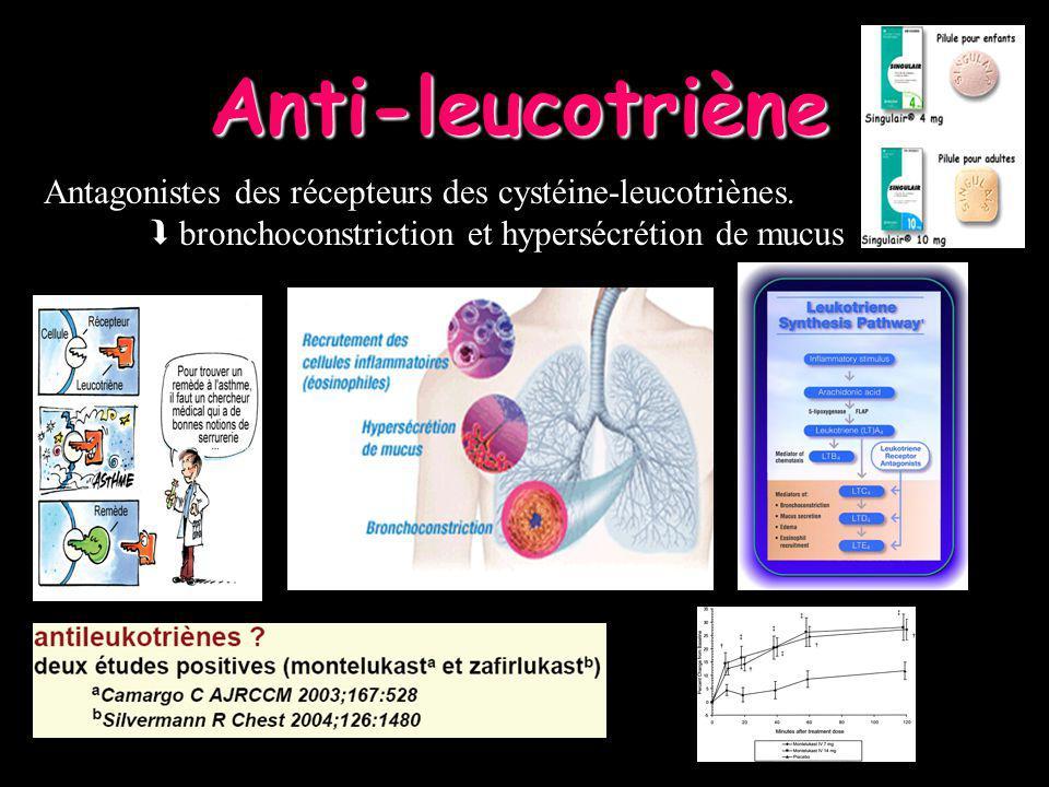 Anti-leucotriène Antagonistes des récepteurs des cystéine-leucotriènes.