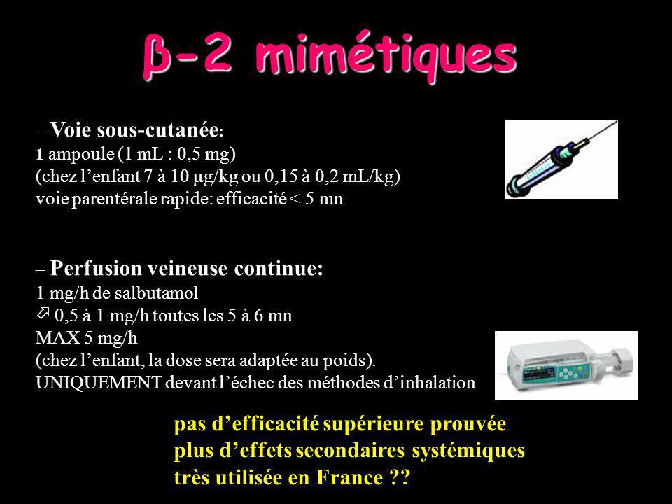 β-2 mimétiques pas d'efficacité supérieure prouvée