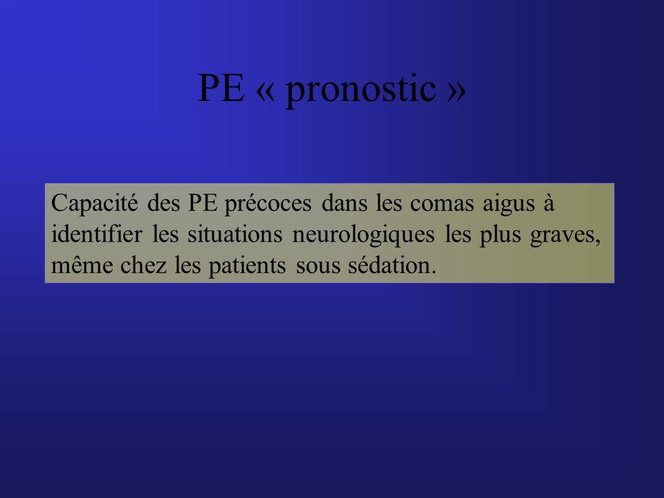 PE « pronostic »