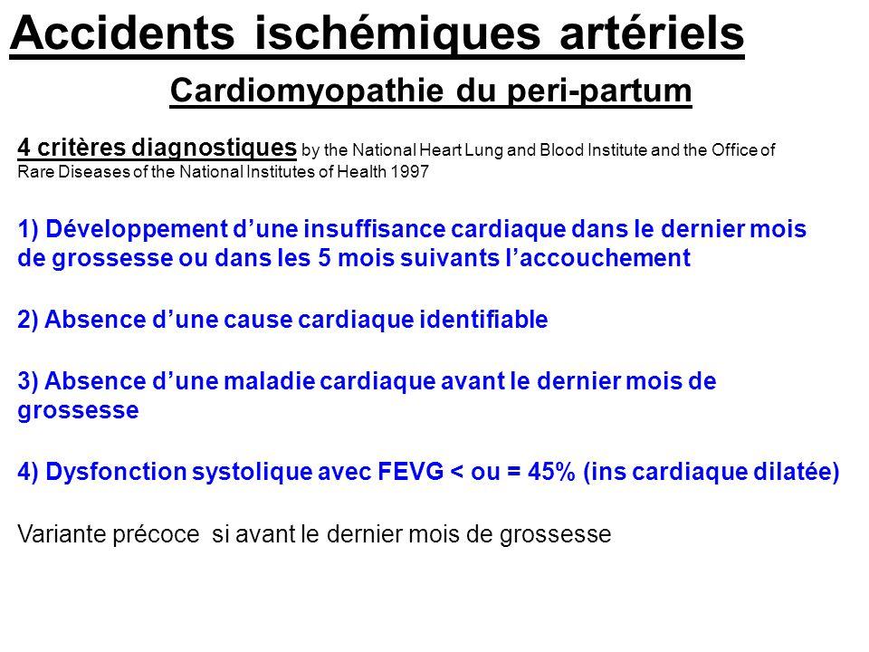 Accidents vasculaires c r braux de la grossesse et du post - Office national d indemnisation des accidents medicaux ...