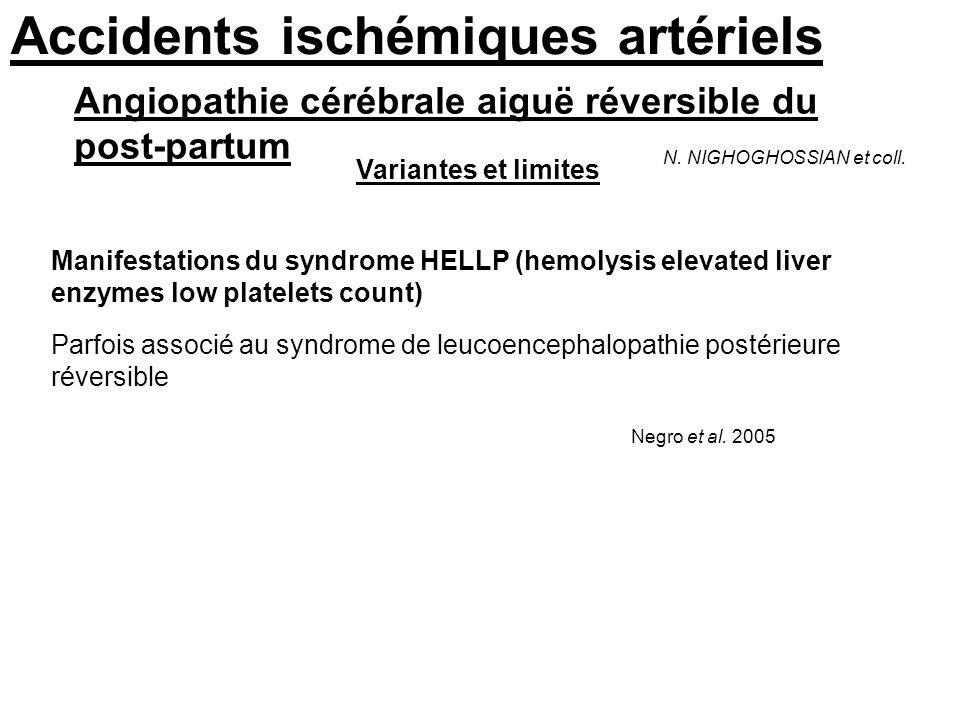 Accidents ischémiques artériels