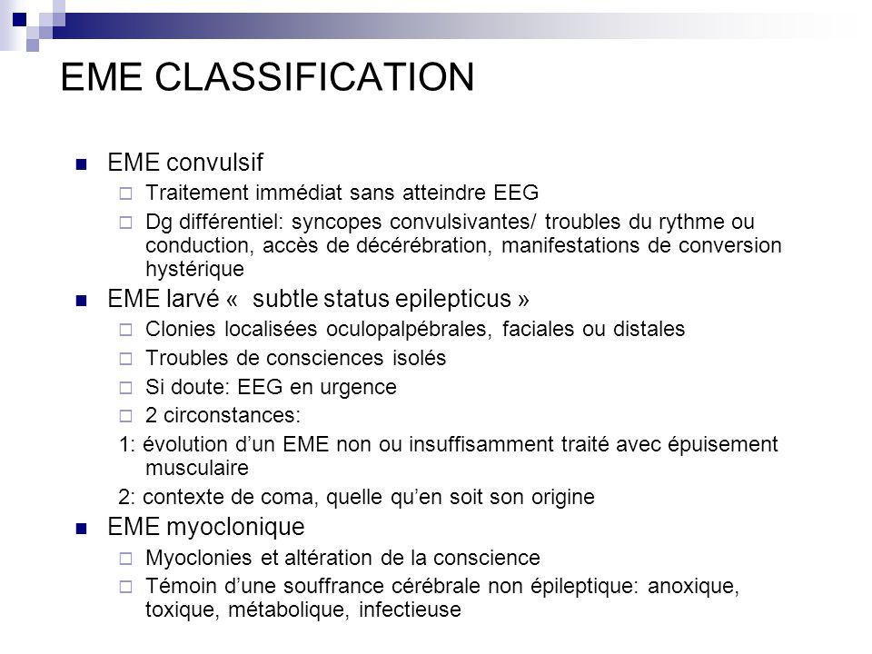 EME CLASSIFICATION EME convulsif