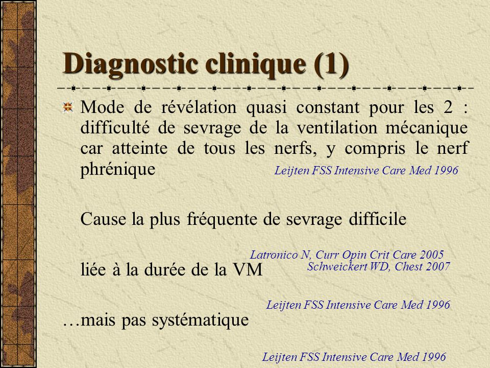 Diagnostic clinique (1)