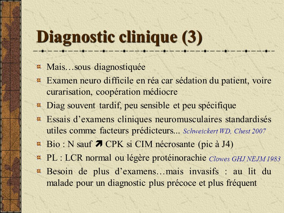 Diagnostic clinique (3)