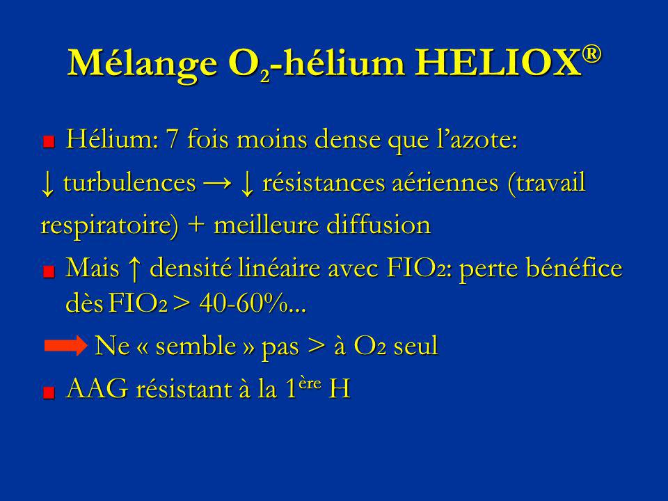Mélange O2-hélium HELIOX®