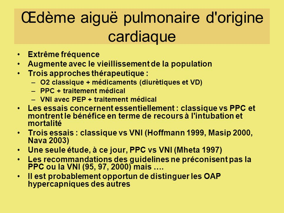 Œdème aiguë pulmonaire d origine cardiaque