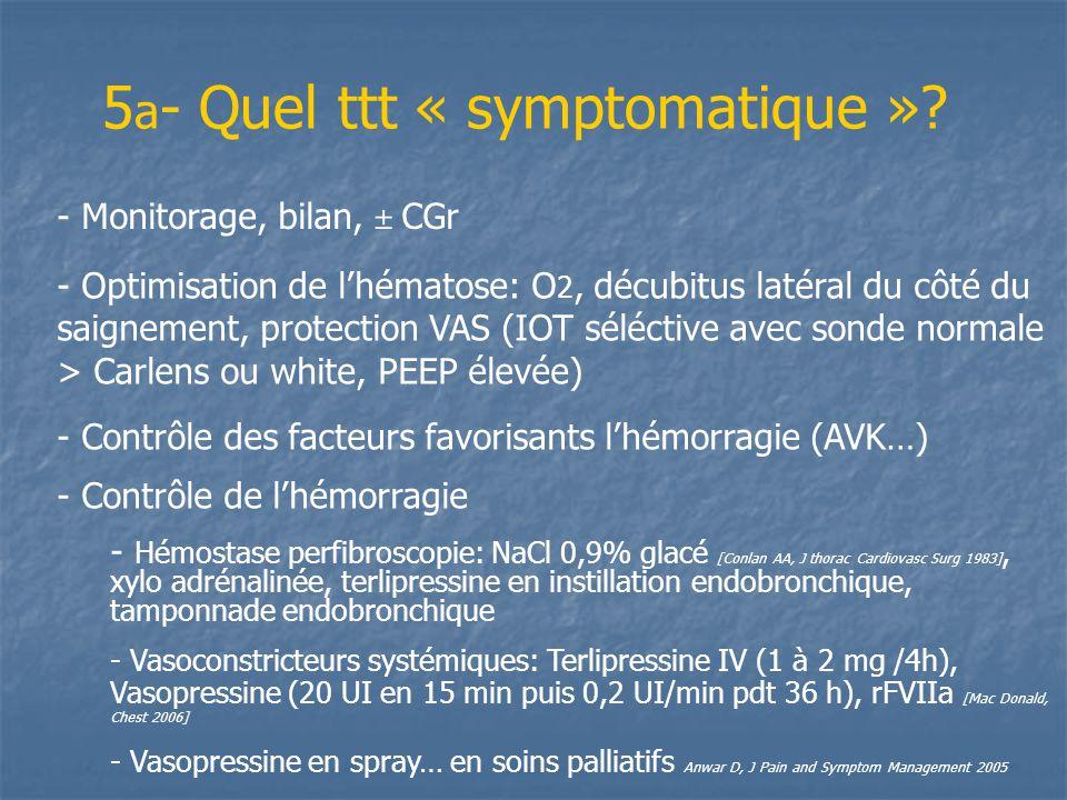 5a- Quel ttt « symptomatique »
