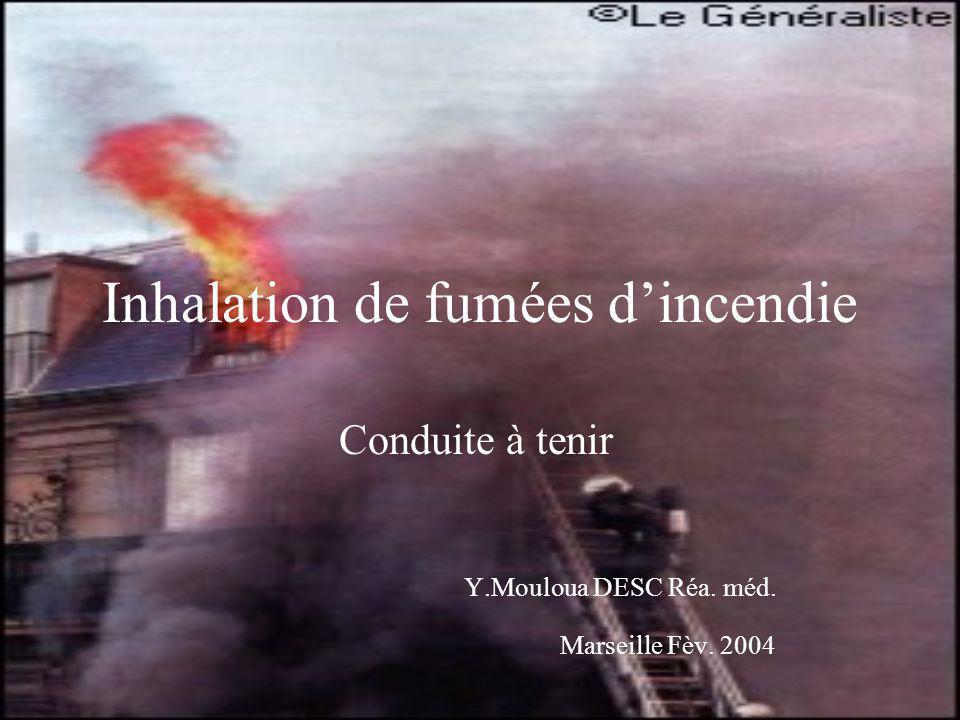 Inhalation de fumées d'incendie