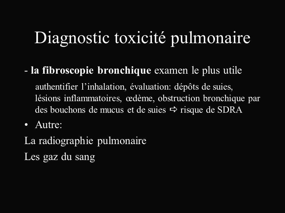 Diagnostic toxicité pulmonaire