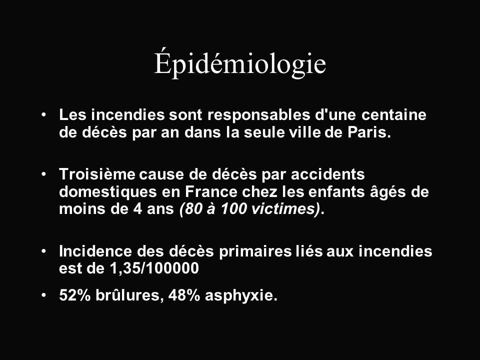 Épidémiologie Les incendies sont responsables d une centaine de décès par an dans la seule ville de Paris.