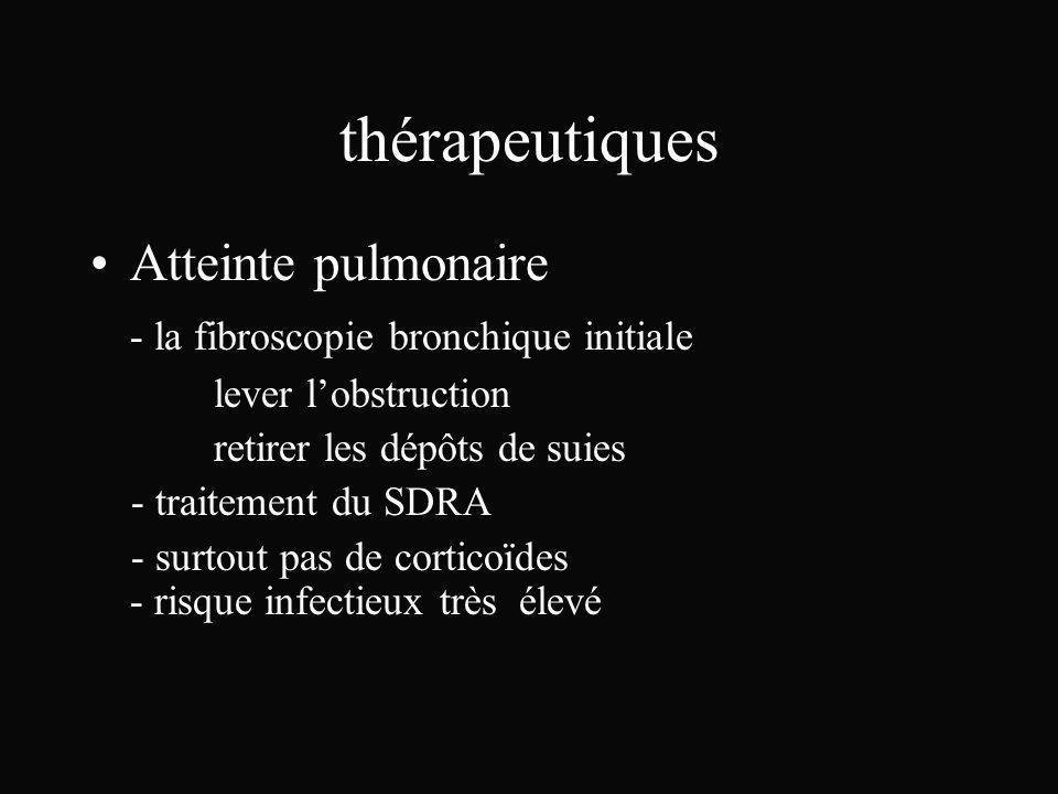 thérapeutiques Atteinte pulmonaire