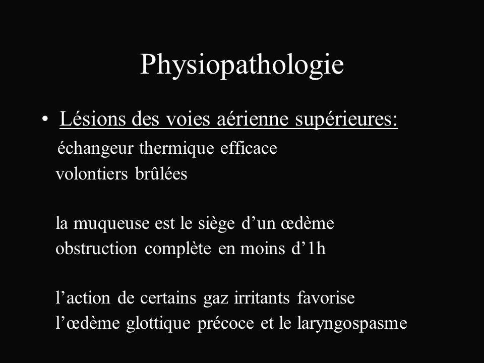 Physiopathologie Lésions des voies aérienne supérieures: