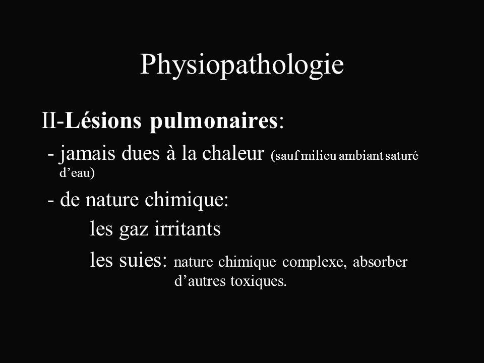 Physiopathologie II-Lésions pulmonaires: