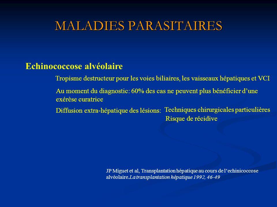 MALADIES PARASITAIRES