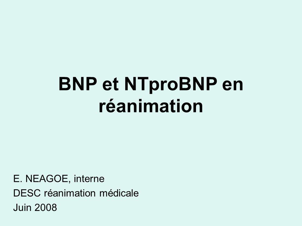 BNP et NTproBNP en réanimation