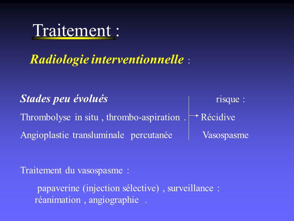 Traitement : Radiologie interventionnelle :