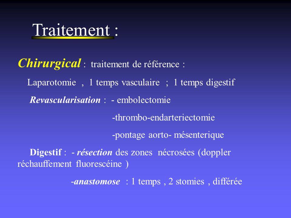 Traitement : Chirurgical : traitement de référence :