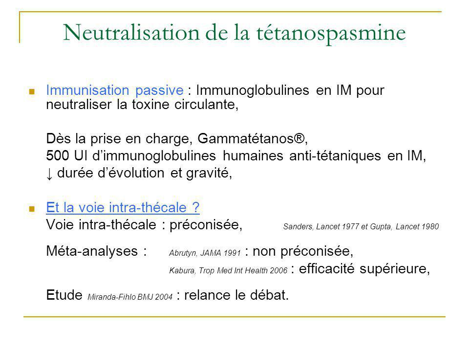 Neutralisation de la tétanospasmine