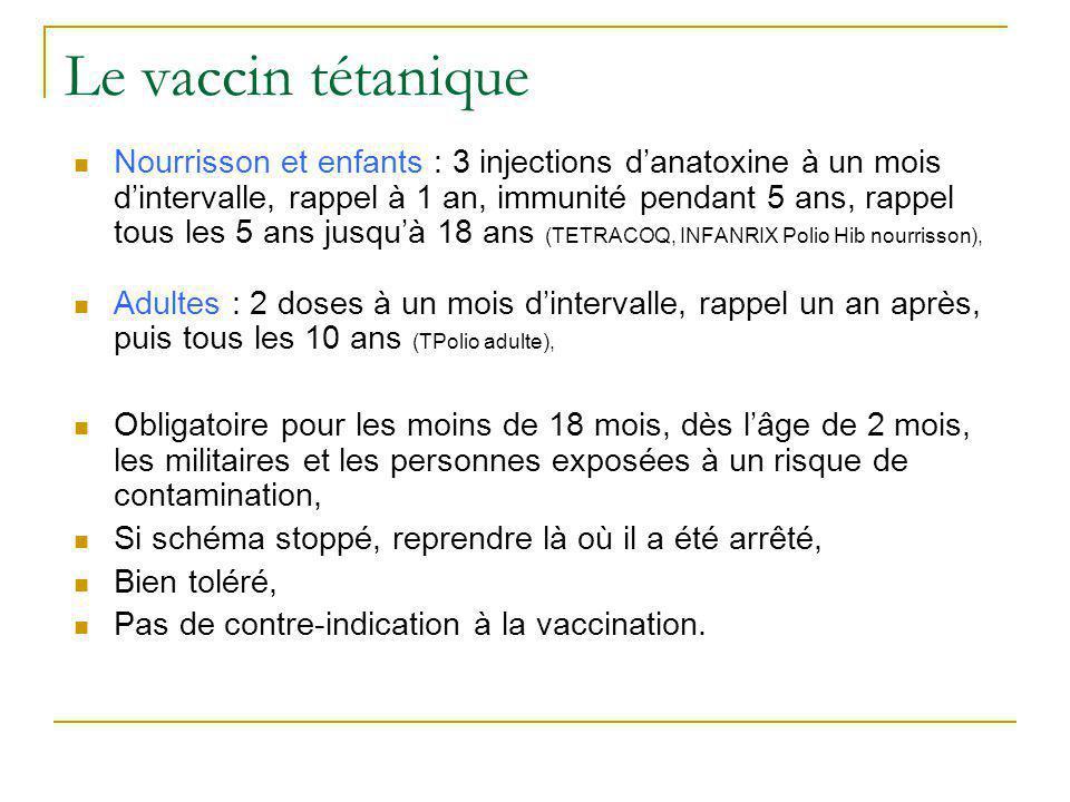 Le vaccin tétanique