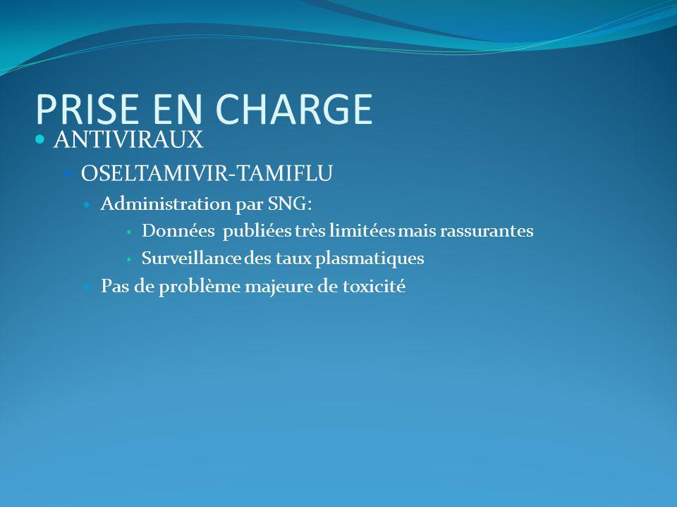 PRISE EN CHARGE ANTIVIRAUX OSELTAMIVIR-TAMIFLU Administration par SNG: